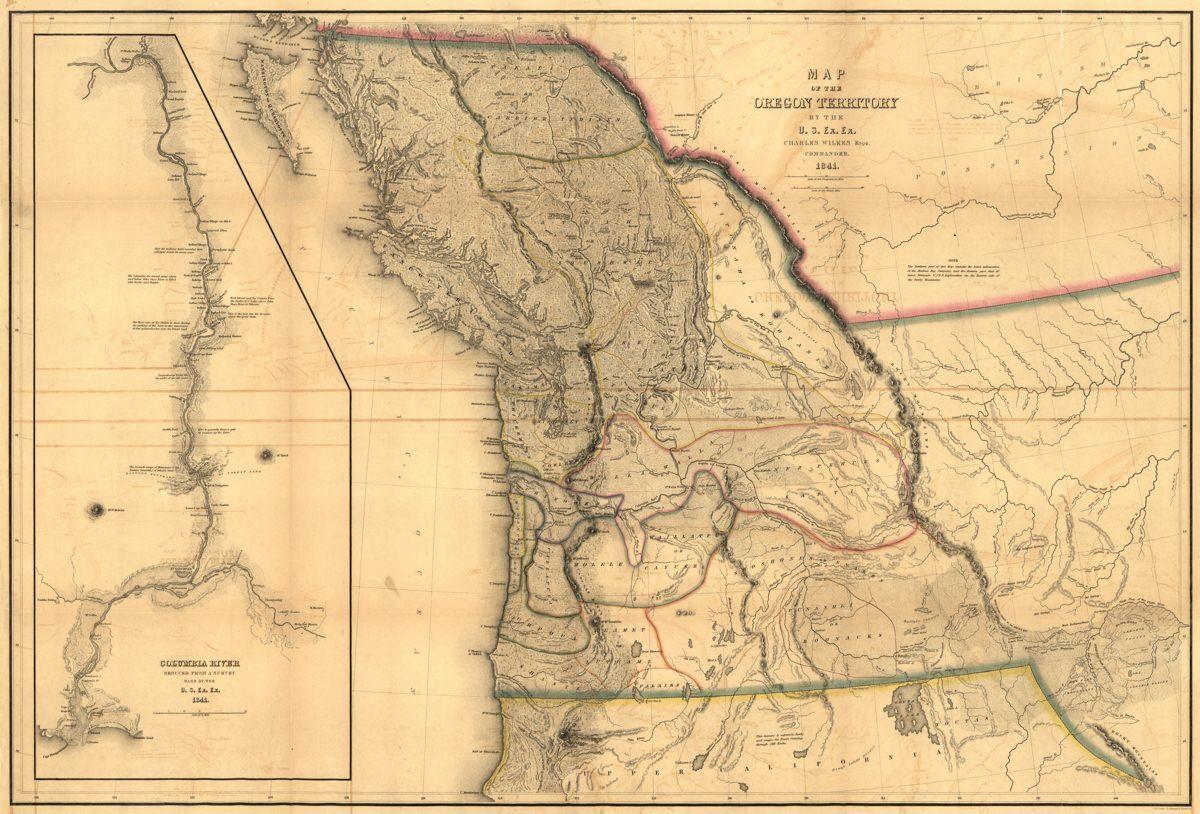 Gammal karta över Oregon