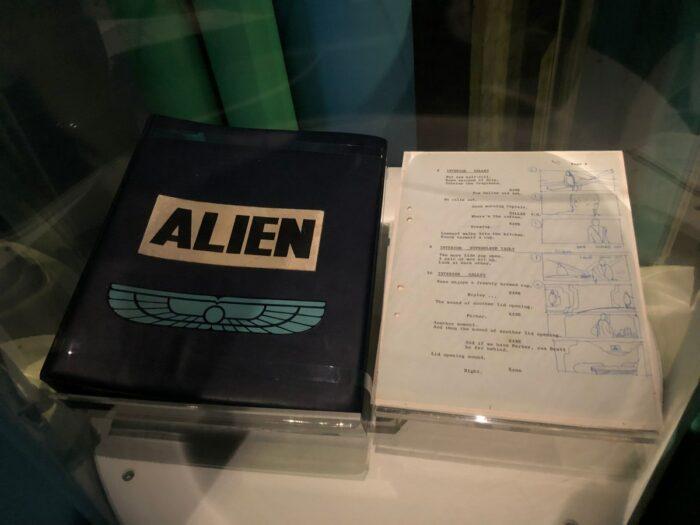 Originalmanuset till filmen Alien