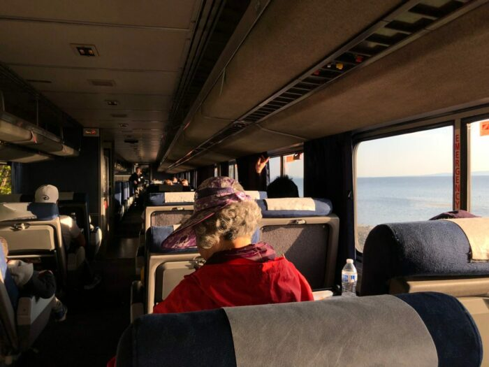 Tågvagn på Amtrak Cascades