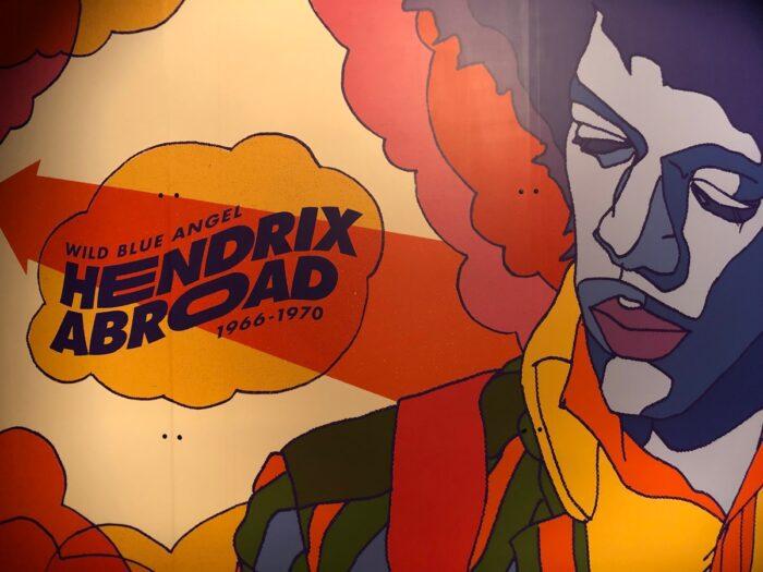 Väggmålning av Jimi Hendrix