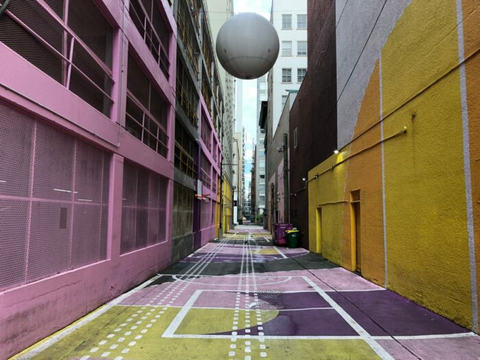 Pink Alley i Downtown Vancouver denna