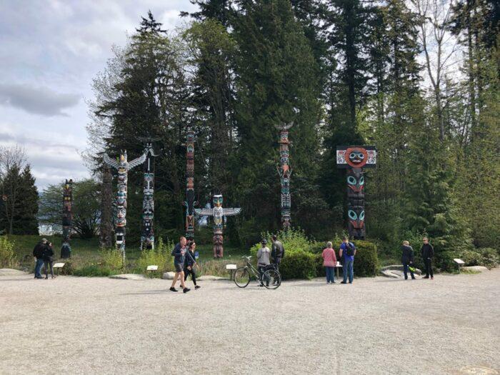 Totempålar i Stanley Park