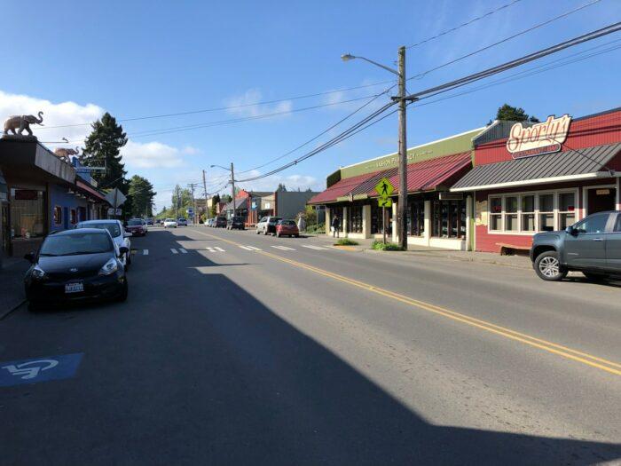 Huvudgatan i Vashon.