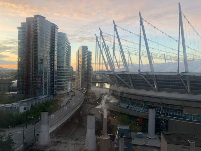Utsikt över BC Place